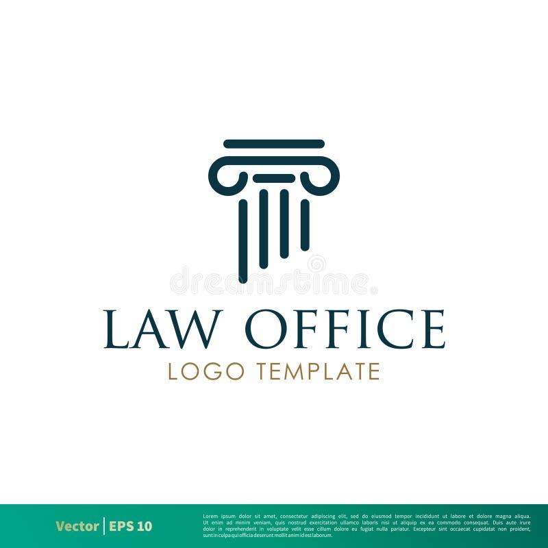 Στυλοβάτης ελληνικά, δικηγορικό γραφείο στηλών, εταιρία νόμου, διανυσματικό σχέδιο απεικόνισης προτύπων λογότυπων εικονιδίων πληρ διανυσματική απεικόνιση
