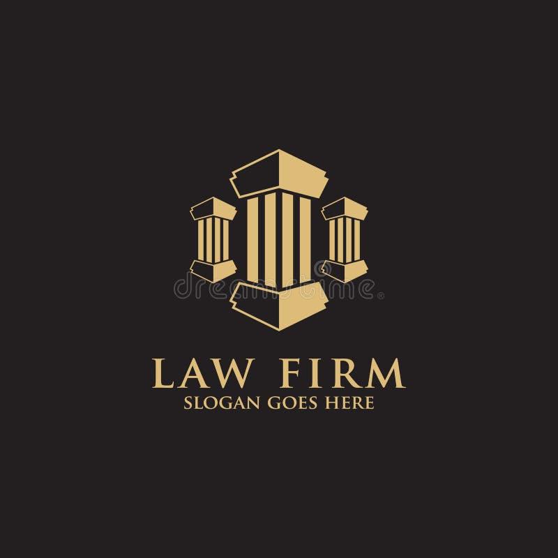 3 στυλοβατών σύγχρονη έμπνευση σχεδίου λογότυπων νόμου σταθερή απεικόνιση αποθεμάτων