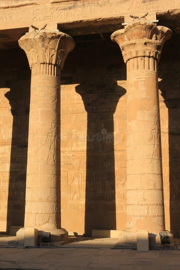 Στυλοβάτες στο ναό Karnak, Αίγυπτος στοκ εικόνες με δικαίωμα ελεύθερης χρήσης