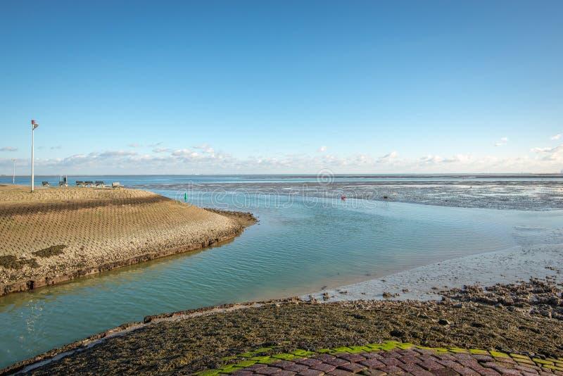 Στόμα λιμένων του ολλανδικού ψαροχώρι του Yerseke στοκ εικόνες με δικαίωμα ελεύθερης χρήσης