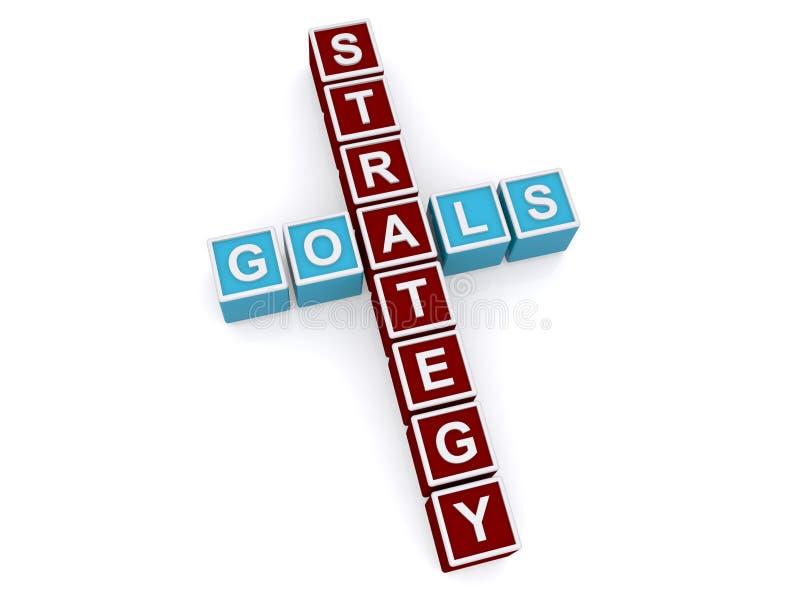 Στόχοι και σημάδι στρατηγικής ελεύθερη απεικόνιση δικαιώματος