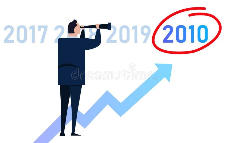 Στόχοι του νέου επιχειρηματικού ημερολογίου για το 2010 ανά παρουσίαση διευθυντή επιχειρηματία απεικόνιση αποθεμάτων