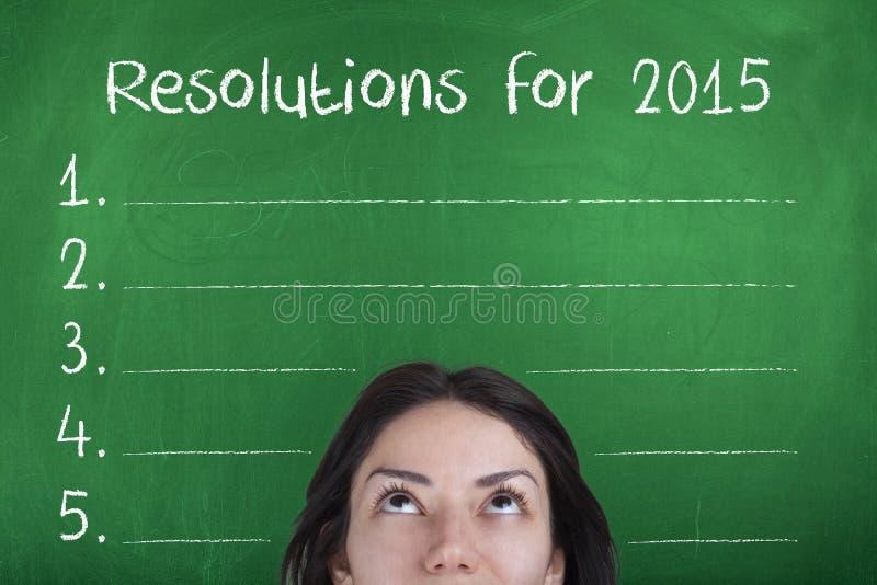 Στόχοι ψηφισμάτων για το νέο έτος 2015 στοκ φωτογραφίες