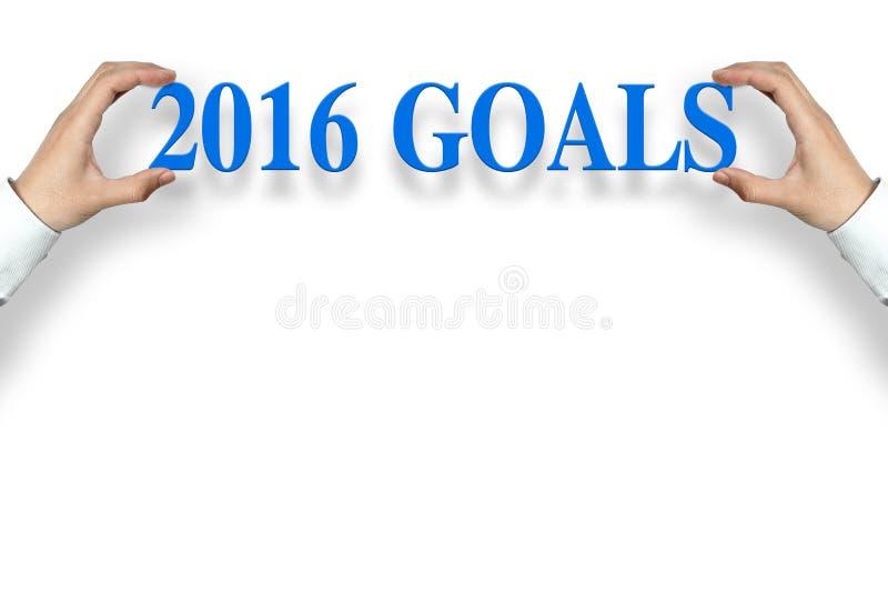 2016 στόχοι στοκ φωτογραφίες