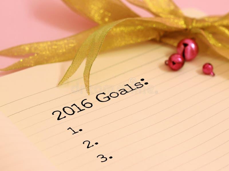 2016 στόχοι στοκ εικόνες