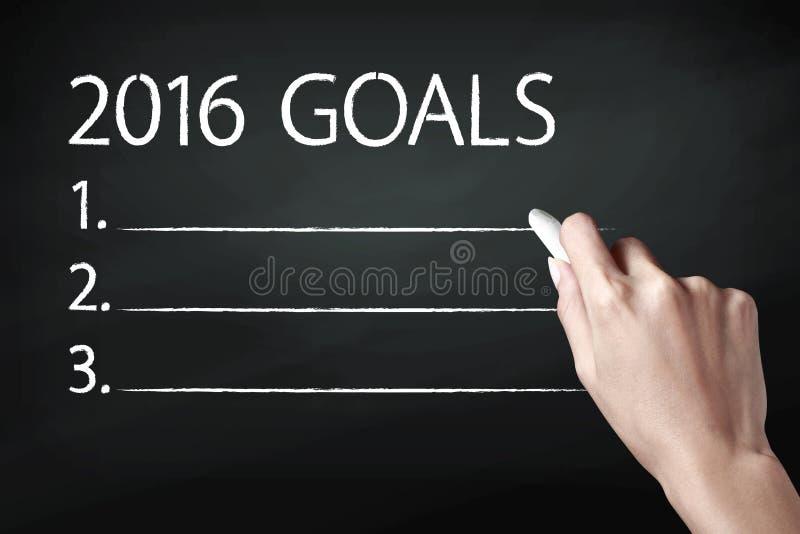2016 στόχοι στοκ εικόνα με δικαίωμα ελεύθερης χρήσης