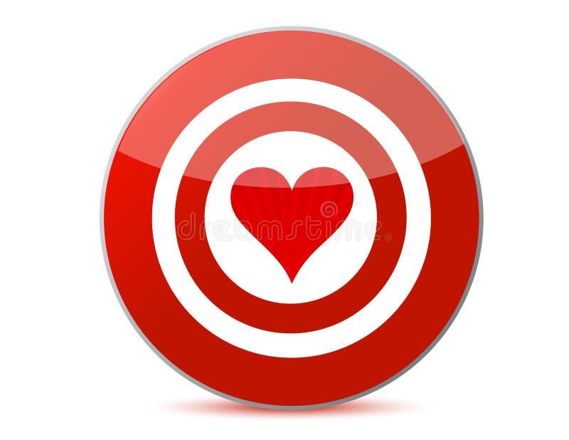 στόχος αγάπης διανυσματική απεικόνιση