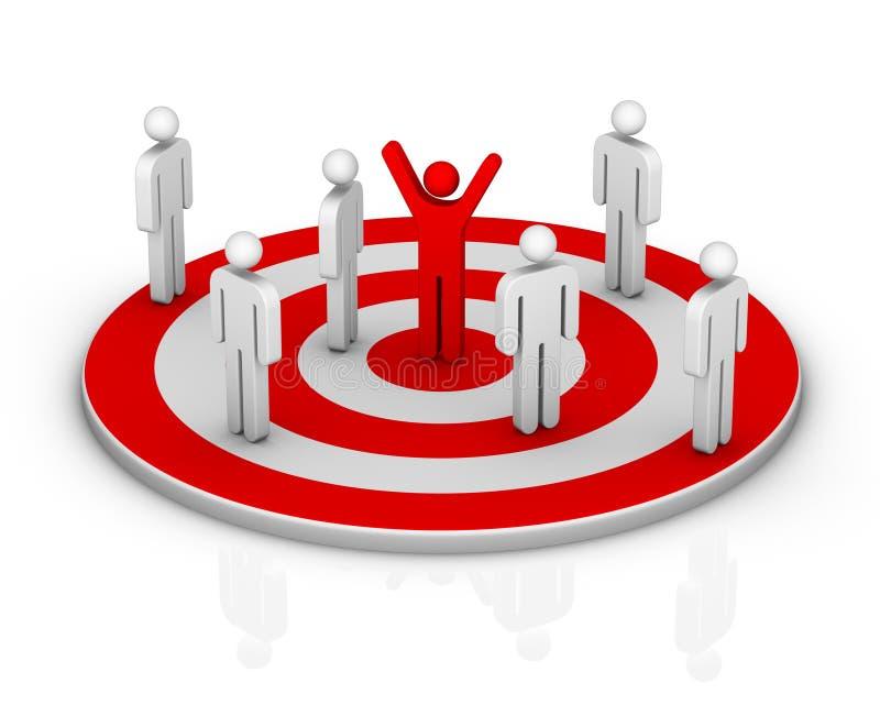 στόχος αγοράς διανυσματική απεικόνιση