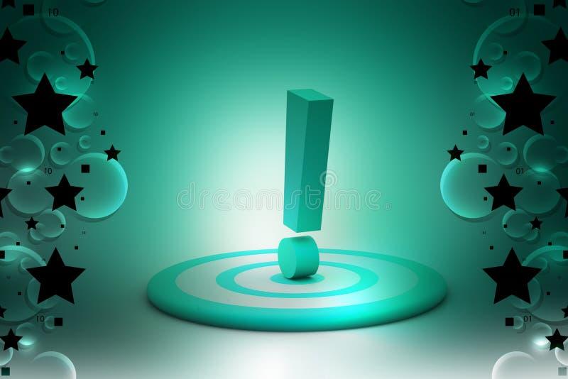Στόχος βελών με το σημάδι θαυμαστικών απεικόνιση αποθεμάτων