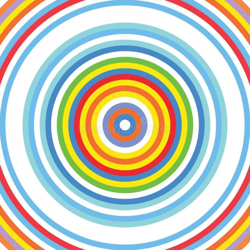 Στόχος γύρω από το σχέδιο υποβάθρου ουράνιων τόξων κύκλων διανυσματική απεικόνιση