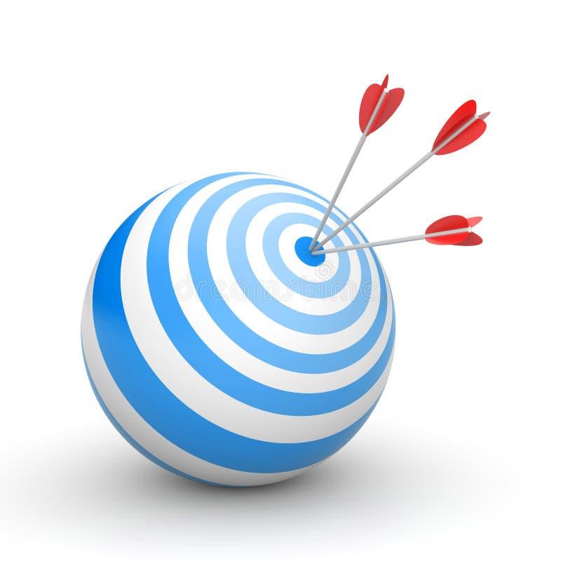 στόχος επιτυχίας έννοιας βελών διανυσματική απεικόνιση