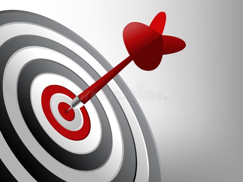 στόχος επιτυχίας διανυσματική απεικόνιση