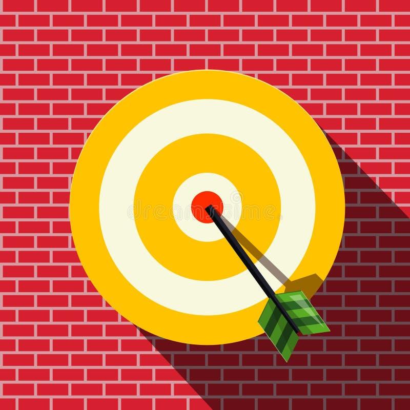 Στόχος με το βέλος στο κέντρο ελεύθερη απεικόνιση δικαιώματος