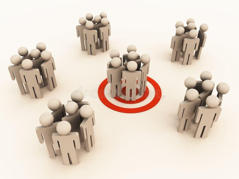 στόχος ομάδας ελεύθερη απεικόνιση δικαιώματος
