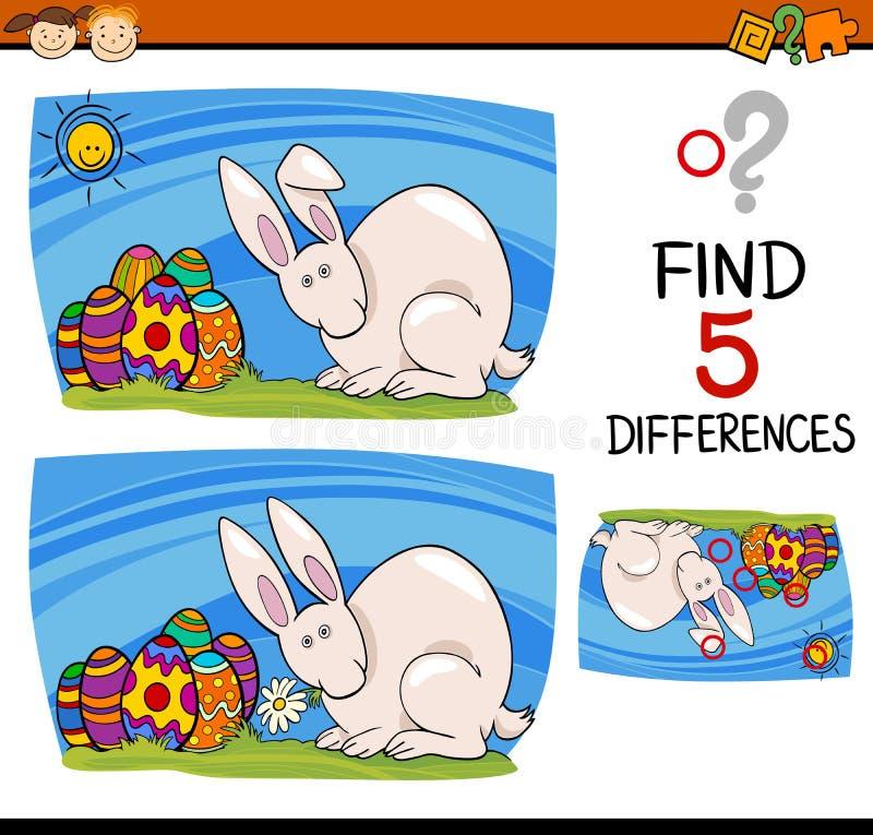 Στόχος Πάσχας των διαφορών διανυσματική απεικόνιση