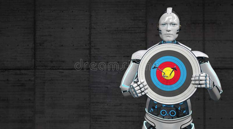 Στόχος ρομπότ ελεύθερη απεικόνιση δικαιώματος