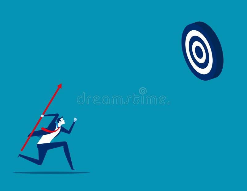 Στόχος σκοπευτών σκοποβολής επιχειρηματία Σύλληψη επιχειρηματικού φορέα, επίτευγμα, επιτυχία ελεύθερη απεικόνιση δικαιώματος