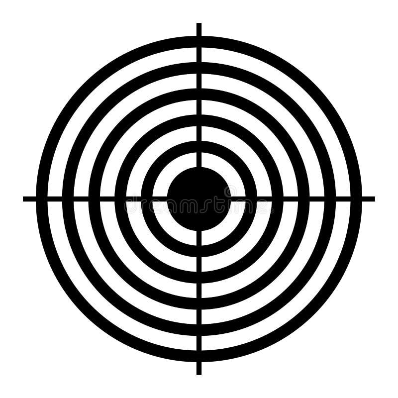 Στόχος στόχων πυροβολισμού ελεύθερη απεικόνιση δικαιώματος
