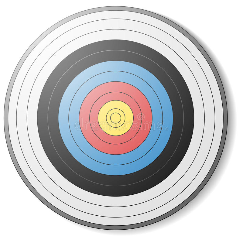 Στόχος τοξοβολίας διανυσματική απεικόνιση