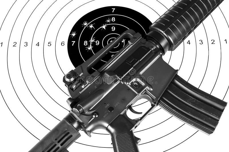 Στόχος τουφεκιών και πυροβολισμού στοκ εικόνες