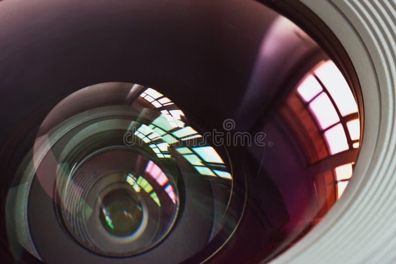 στόχος φακών κινηματογρα&ph στοκ εικόνες