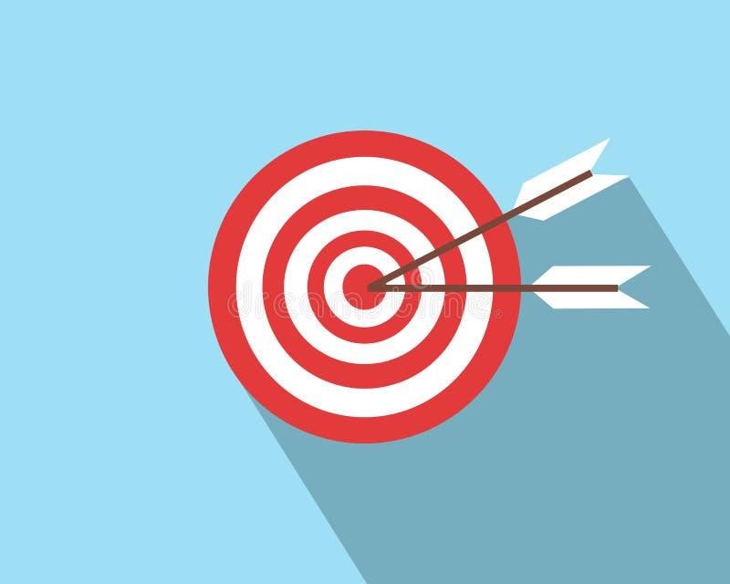 Στόχος Bullseye, βέλος ελεύθερη απεικόνιση δικαιώματος