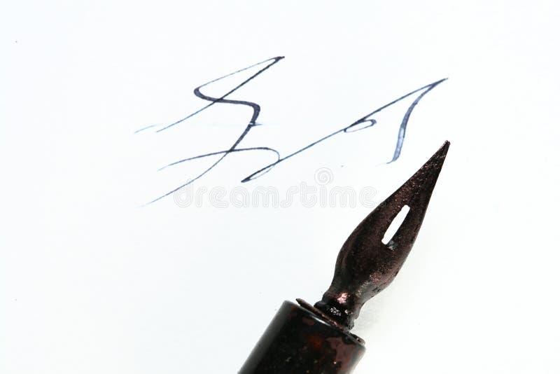 συγγραφέας στυλό μελαν&io στοκ φωτογραφίες