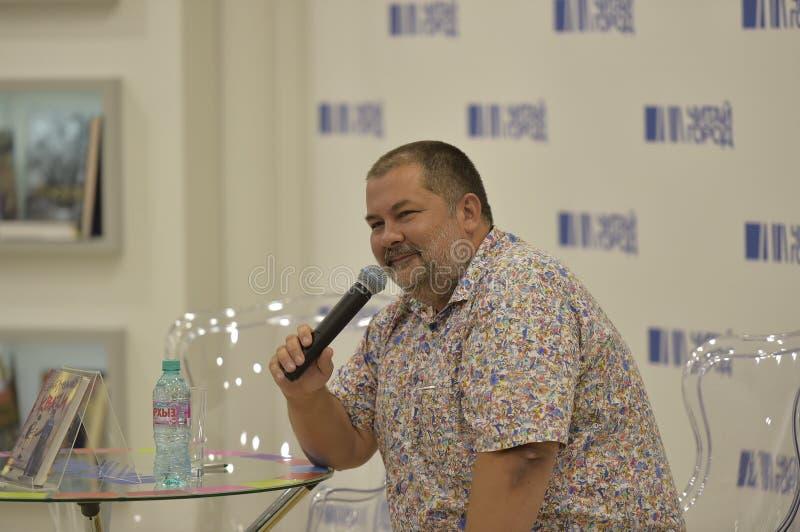 Συγγραφέας Sergey Lukyanenko μυθιστοριογραφίας στοκ εικόνες