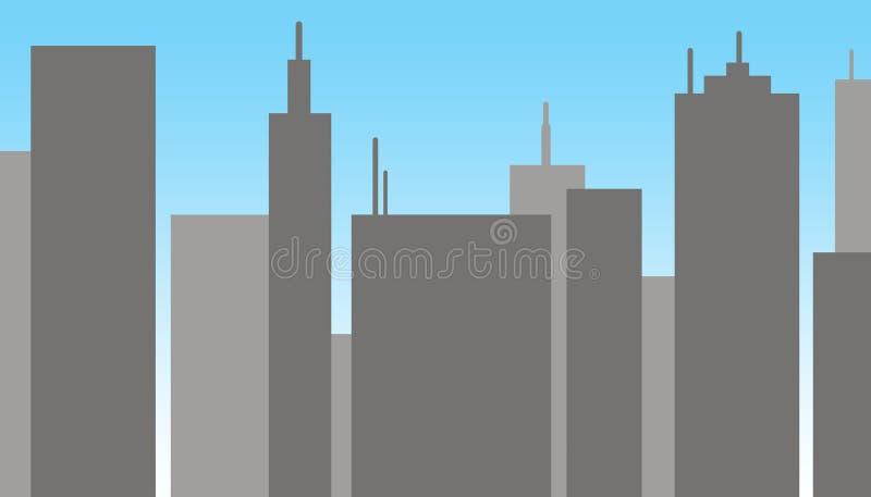Συγκεκριμένα κτήρια το μεσημέρι ελεύθερη απεικόνιση δικαιώματος