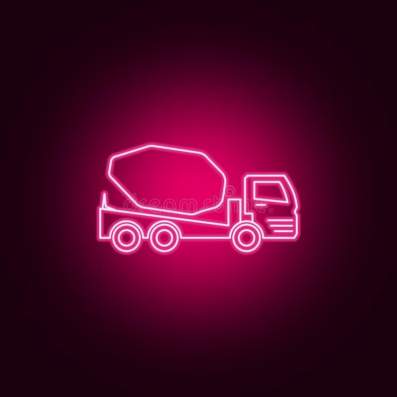 συγκεκριμένο εικονίδιο νέου αναμικτών φορτηγών Στοιχεία του συνόλου μεταφορών r απεικόνιση αποθεμάτων