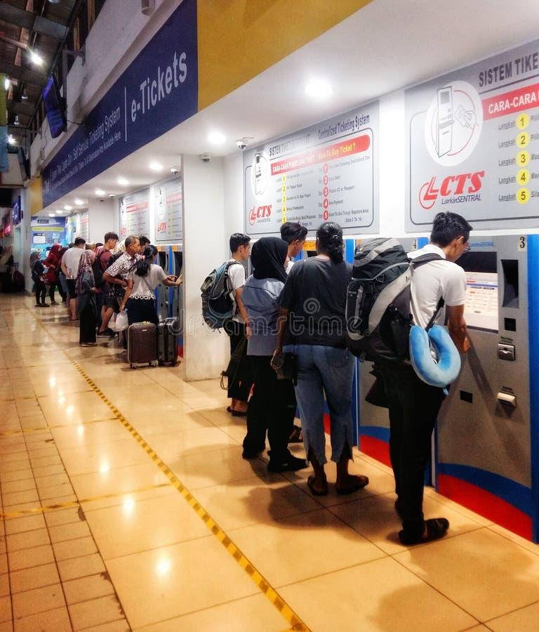 Συγκεντρωμένο σύστημα εισιτηρίων λεωφορείων στοκ εικόνα με δικαίωμα ελεύθερης χρήσης