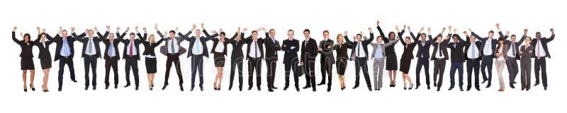Συγκινημένη businesspeople επιτυχία εορτασμού στοκ εικόνες