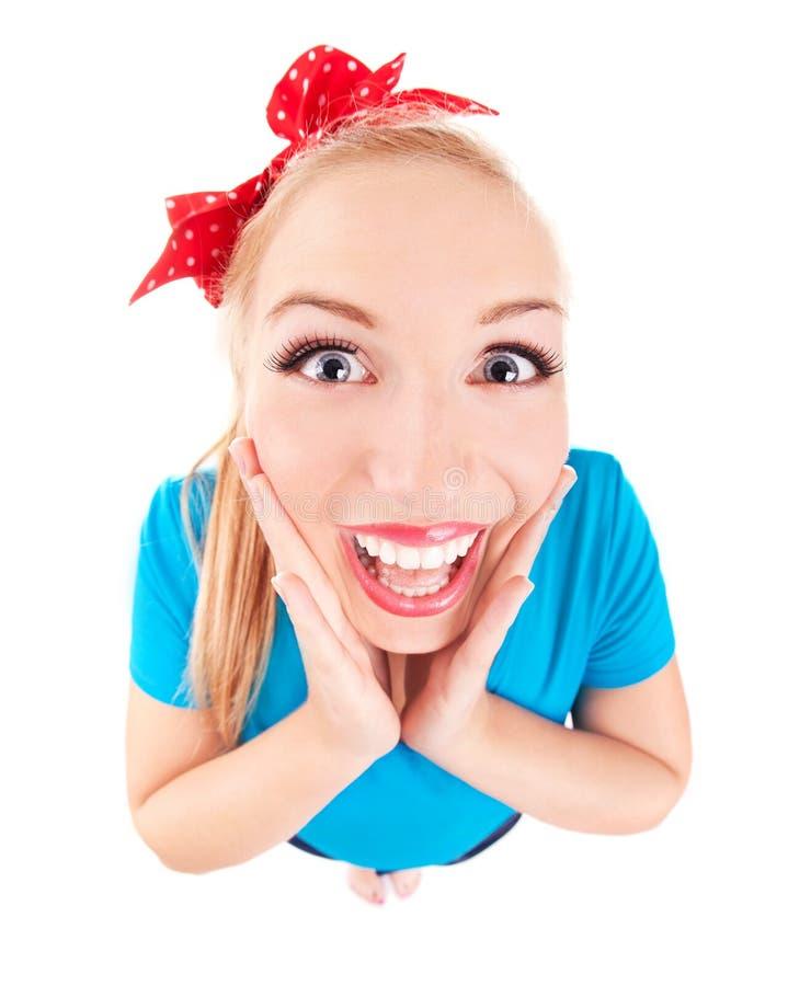 Συγκινημένο αστείο κορίτσι στοκ εικόνες με δικαίωμα ελεύθερης χρήσης