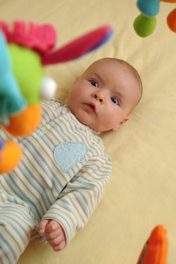 Συγκινημένο μωρό Στοκ Εικόνες