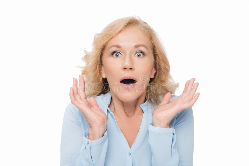 Συγκλονισμένη γυναίκα στοκ φωτογραφία