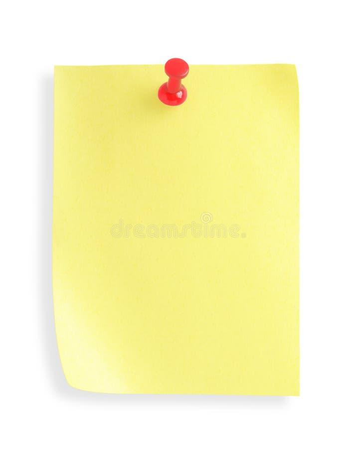 συγκολλητικό μονοπάτι σημειώσεων ψαλιδίσματος pushpin στοκ εικόνες με δικαίωμα ελεύθερης χρήσης