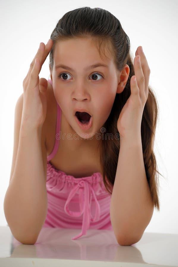 Συγκλονισμένο κορίτσι εφήβων στοκ φωτογραφία