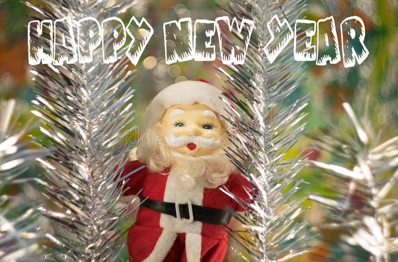 Συγχαρητήρια σε Άγιο Βασίλη καλή χρονιά στοκ εικόνα