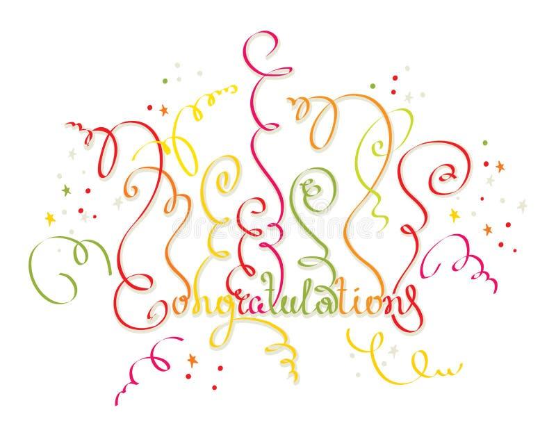 Συγχαρητήρια σε όλες τις διακοπές απεικόνιση αποθεμάτων