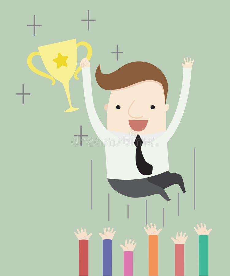 Συγχαρητήρια στη νίκη ενός βραβείου απεικόνιση αποθεμάτων