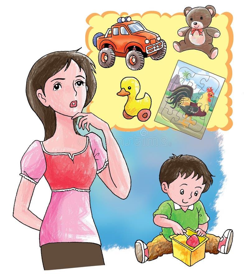 συγχύσετε τη μητέρα απεικόνιση αποθεμάτων