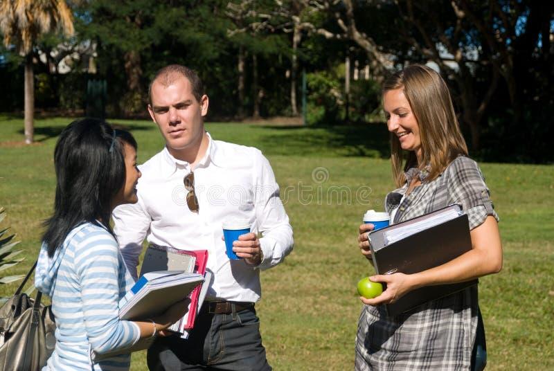 συζητώντας σπουδαστές στοκ φωτογραφία με δικαίωμα ελεύθερης χρήσης