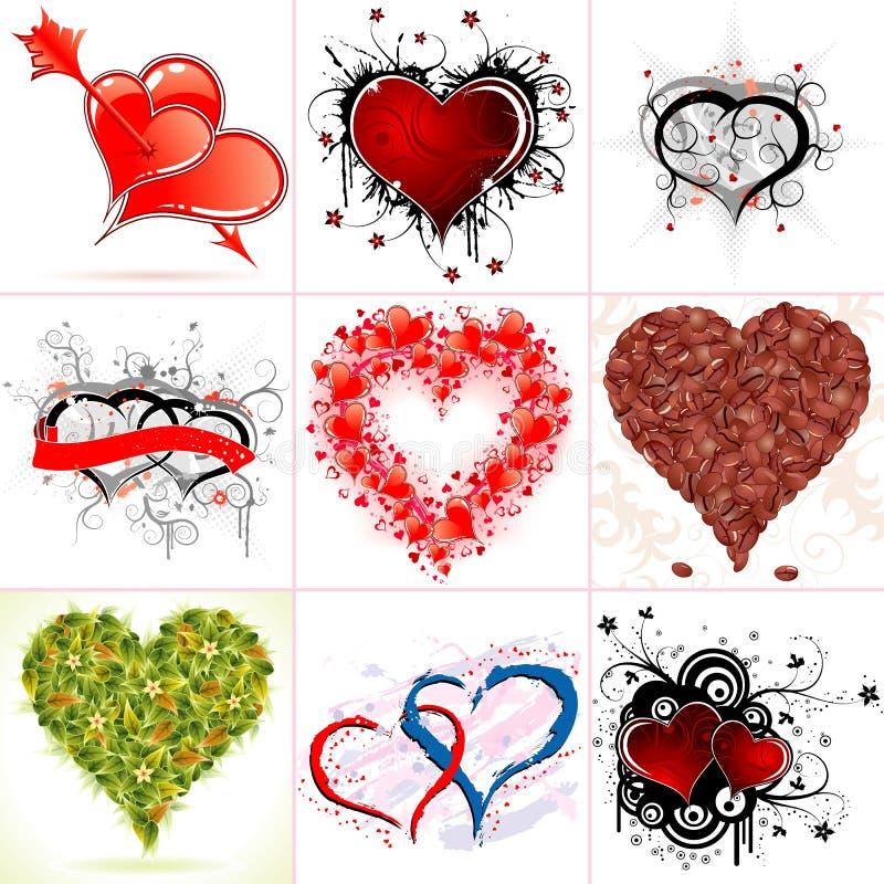 Συλλέξτε τις καρδιές ημέρας του βαλεντίνου απεικόνιση αποθεμάτων