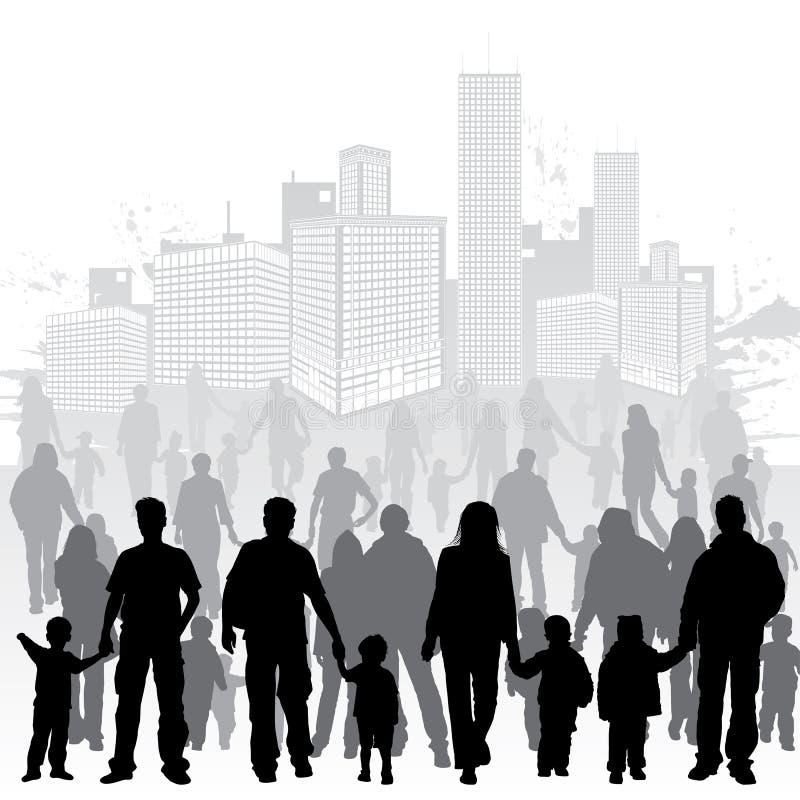 συλλέξτε τις οικογεν&epsilo ελεύθερη απεικόνιση δικαιώματος