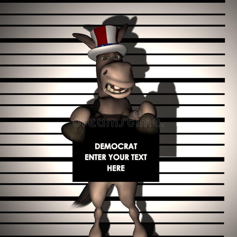συλλήφθείτε δημοκράτης διανυσματική απεικόνιση
