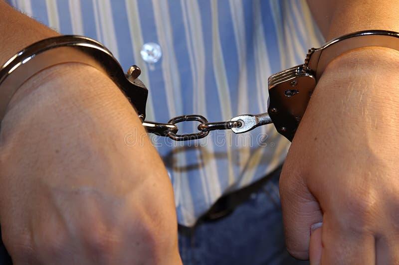 συλλήφθείτε στοκ φωτογραφία