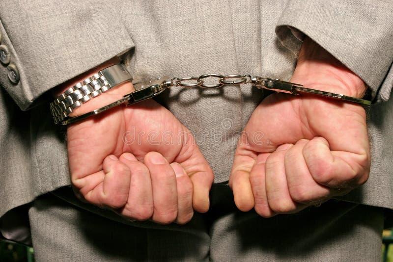 συλλήφθείτ άτομο στοκ φωτογραφία