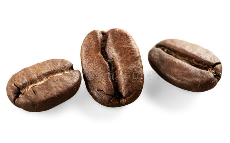 Συλλογές των ψημένων και κόκκινων φασολιών καφέ, ποτό στοκ φωτογραφία