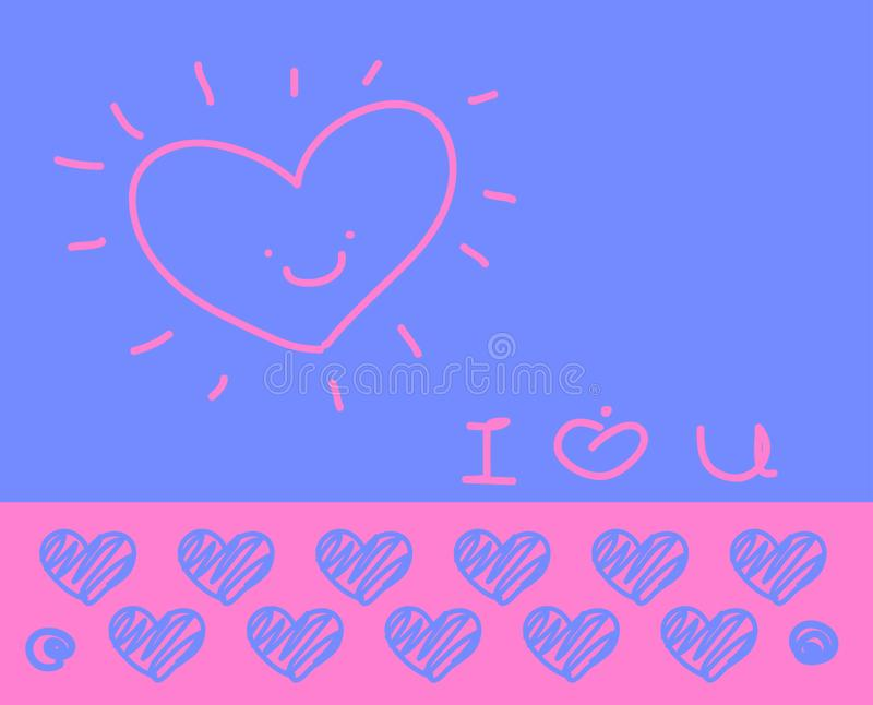 Συλλογή αγάπης στο άσπρο υπόβαθρο, διανυσματική απεικόνιση στοκ εικόνες