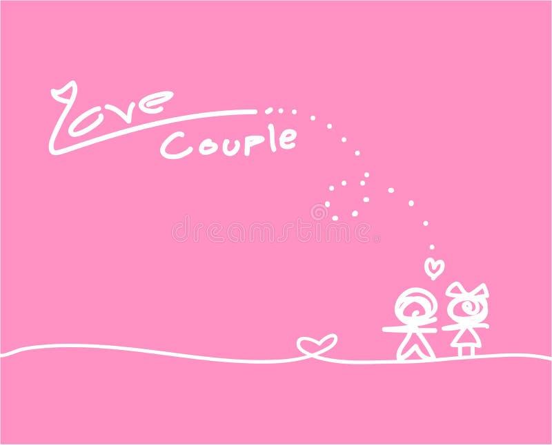 Συλλογή αγάπης στο άσπρο υπόβαθρο, διανυσματική απεικόνιση στοκ εικόνες με δικαίωμα ελεύθερης χρήσης